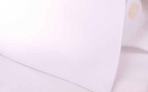 2 Camicie Fold 100/2 Soktas Egyptian Cotton-Non Iron Luxury White Twill