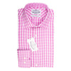 Pink Dobby Plade Slim Fit Semi Cutaway Luxury Shirt