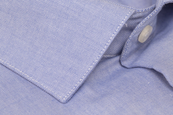 Blue Oxford Slim Fit Luxury Dress Shirt