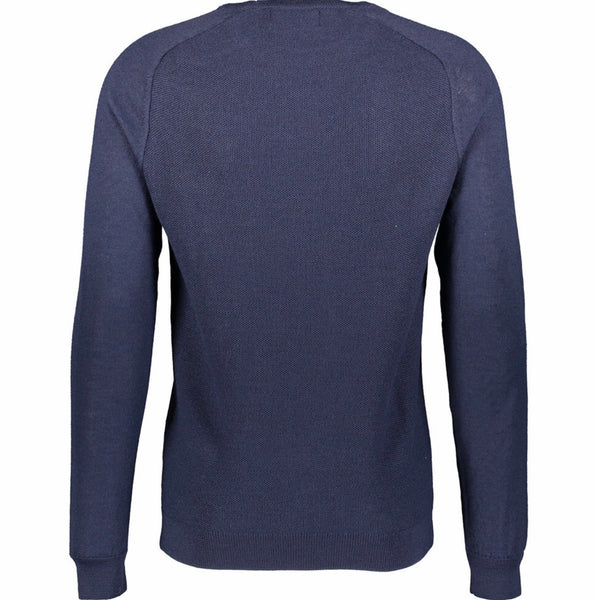 Navy Round neck Wool blend Jumper