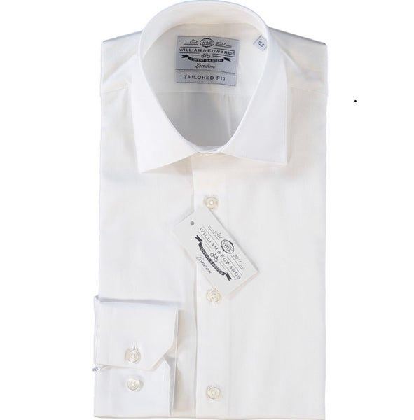 White Oxford Slim Fit Luxury Dress Shirt - luxury shirt williamandedwards