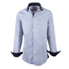 Light Silver  Luxury Lycra Slim Fit  Dobby Dress Shirt - luxury shirt williamandedwards