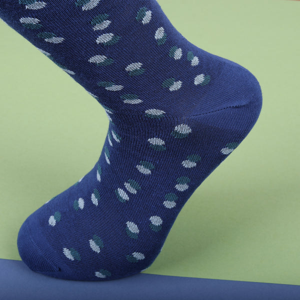 Econyl Organic Socks  Navy Dot design This Socks Help to clean Planet