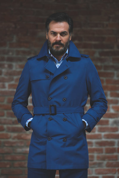 Navy Trenchcoats Mac water rc Overcoats