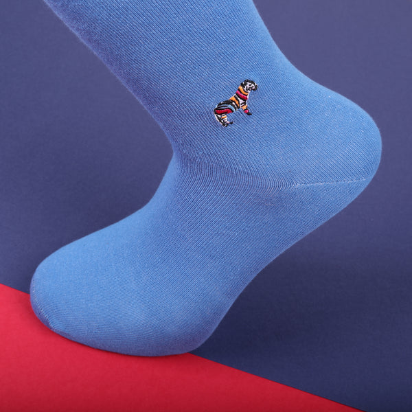 Econyl Organic Socks Zebra Embroidery This Socks Help to clean Planet