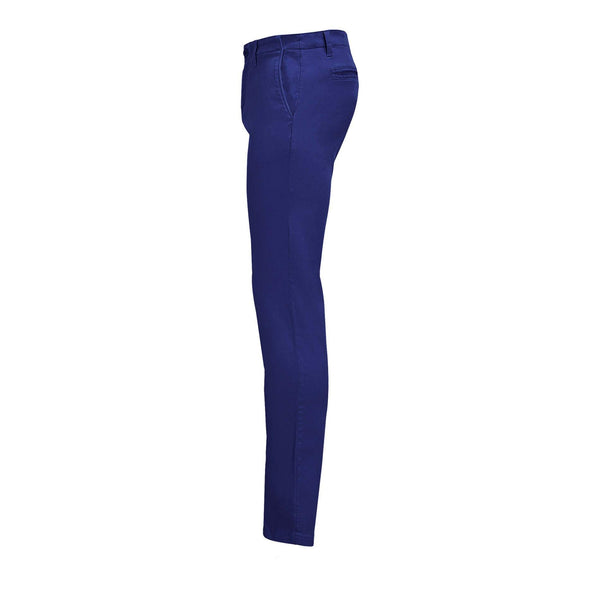 Luxury Blue Chino Stretch  Italian Pocket