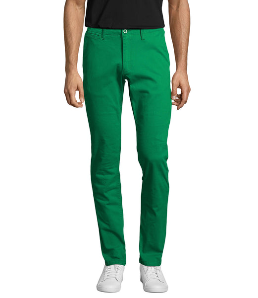 Luxury Green Chino Stretch  Italian Pocket