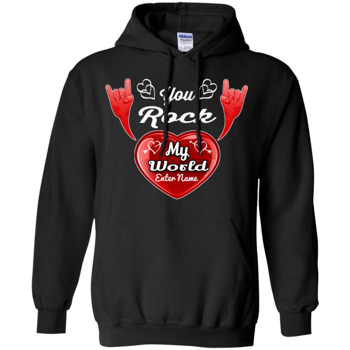 cool you rock my world hoodie