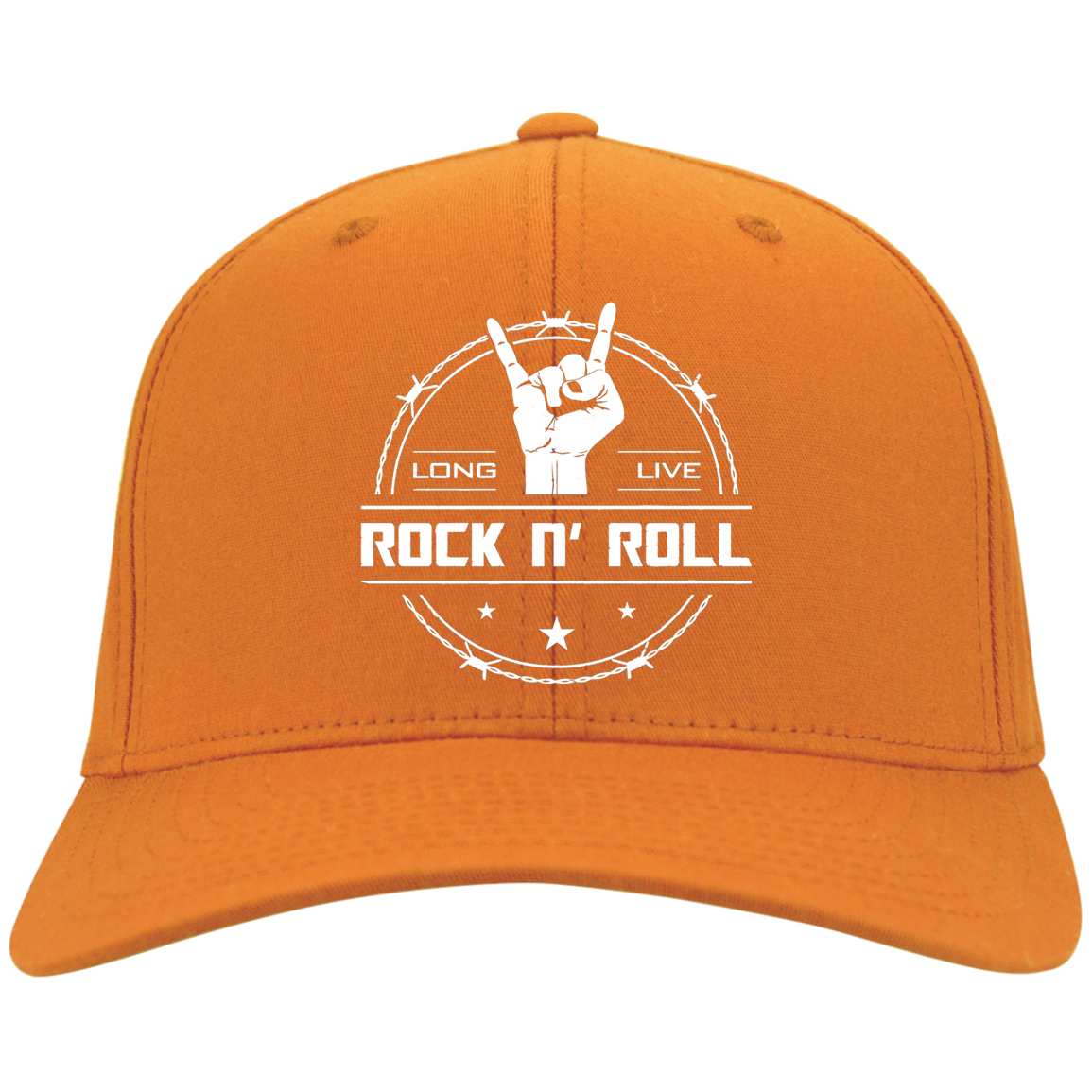 cool long live rock and roll flex fit twill baseball cap