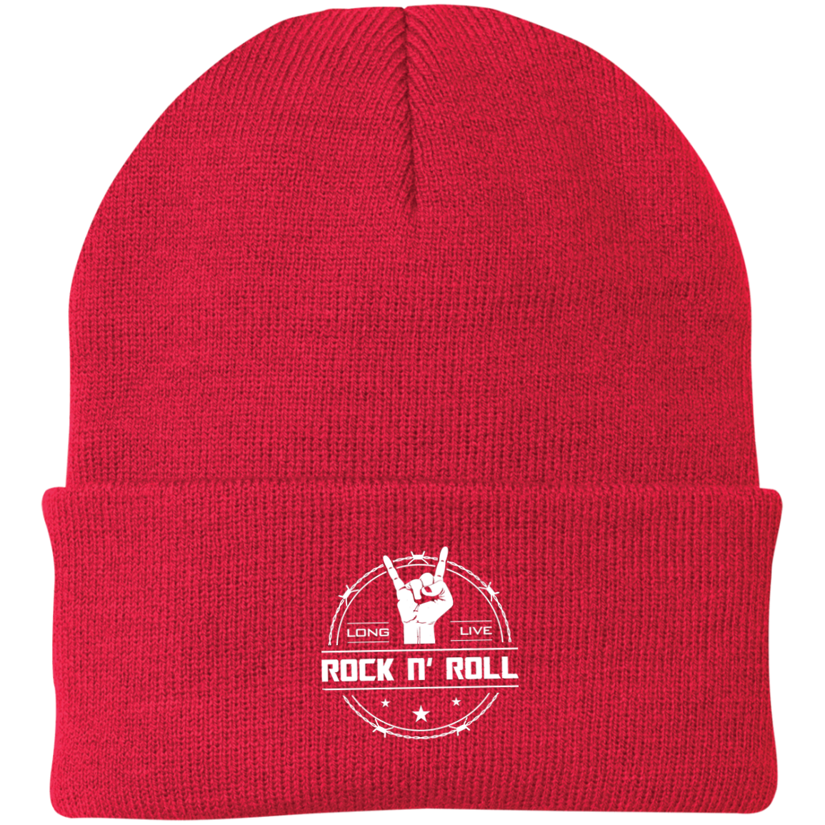 cool long live rock and roll knit cap
