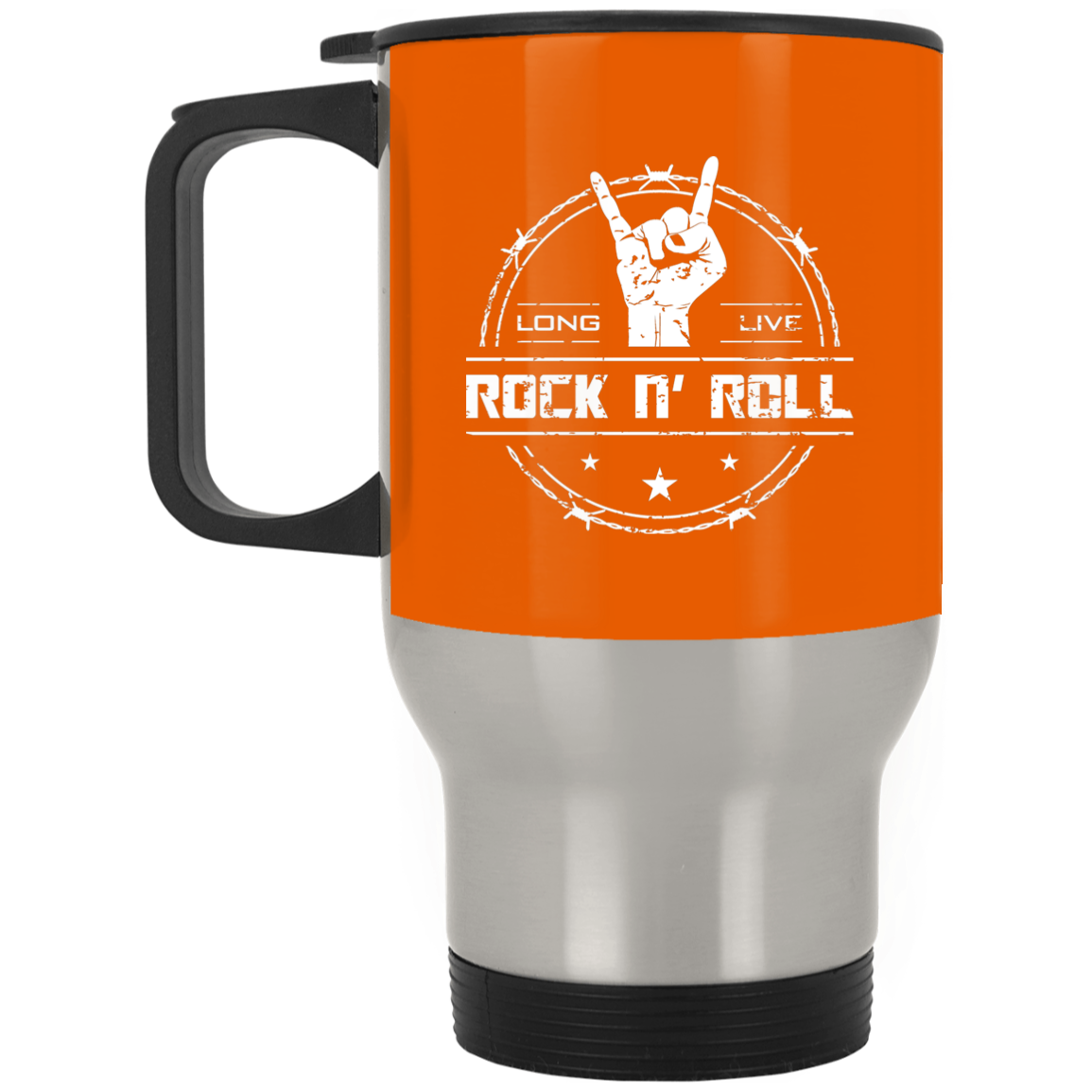 cool long live rock and roll stainless steel travel mug