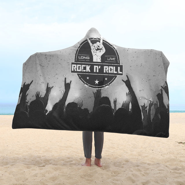 cool long live rock and roll hooded blanket