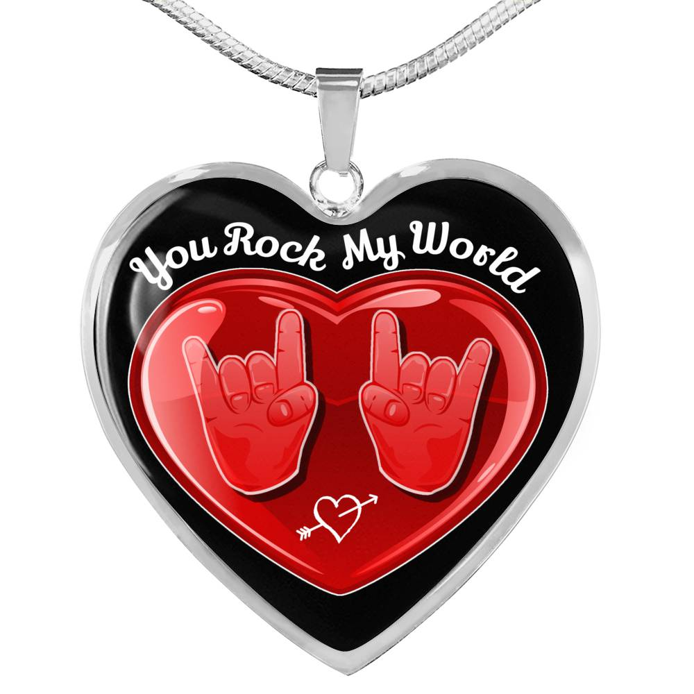 cool hope you rock my world necklace