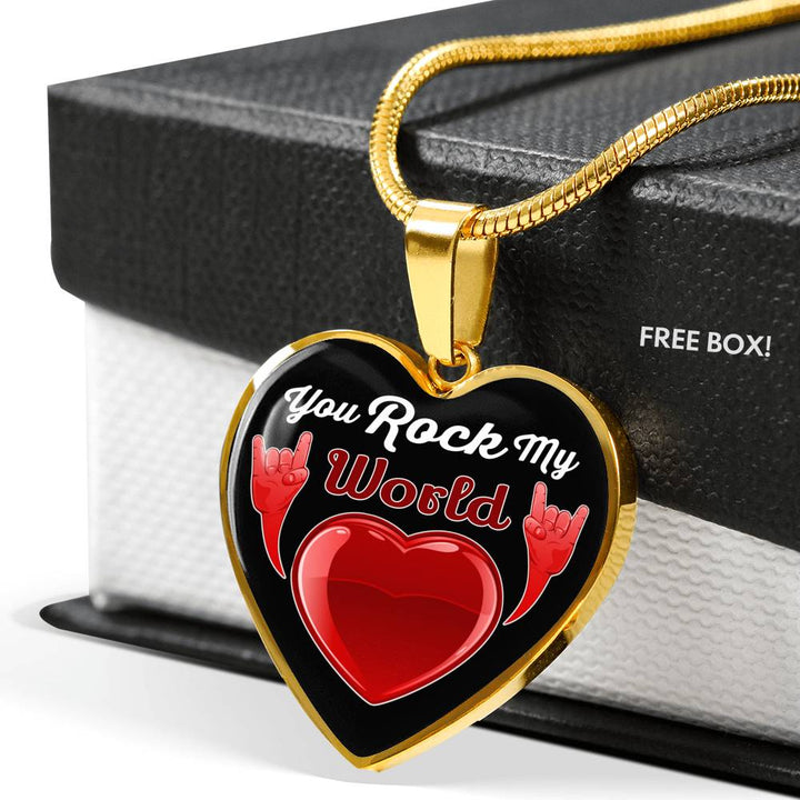 cool faith you rock my world necklace