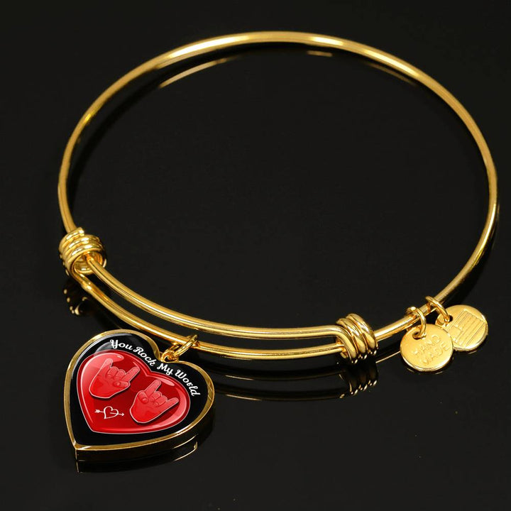 cool hope you rock my world bangle bracelet