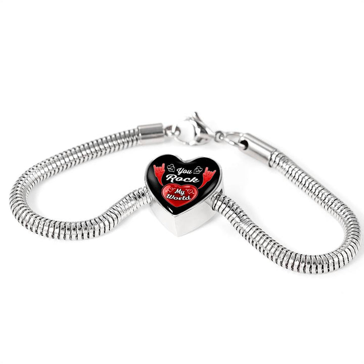 cool love you rock my world bracelet