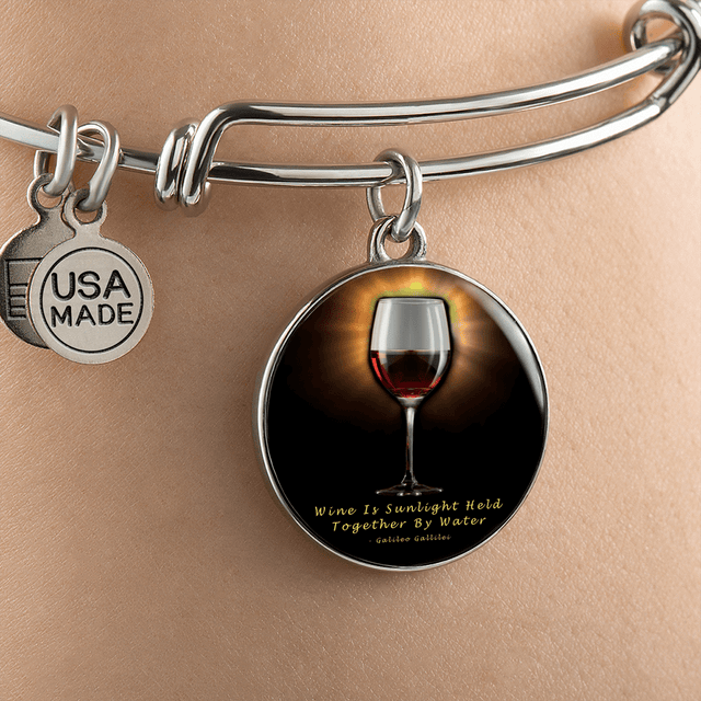 cool sunshine and red wine bracelet
