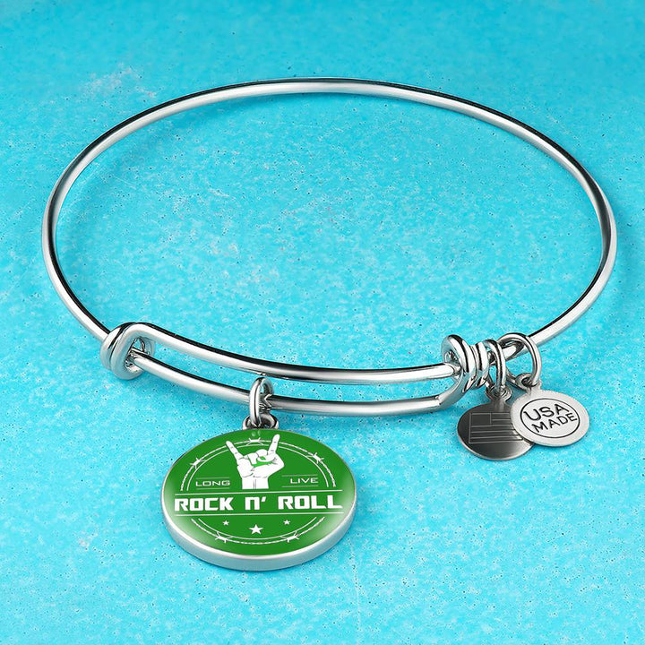 Midnight Long Live Rock And Roll Green Bangle Bracelet