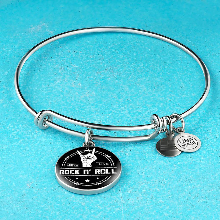 Midnight Long Live Rock And Roll Bangle Bracelet