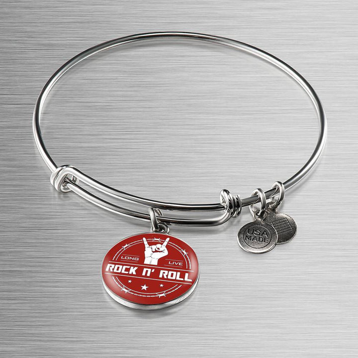 Midnight Long Live Rock And Roll Red Bangle Bracelet