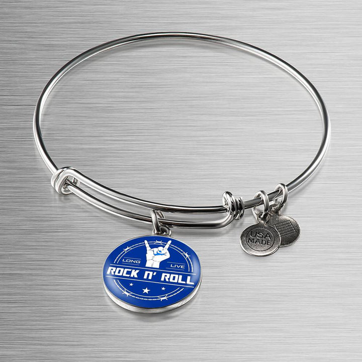 Midnight Long Live Rock And Roll Blue Bangle Bracelet