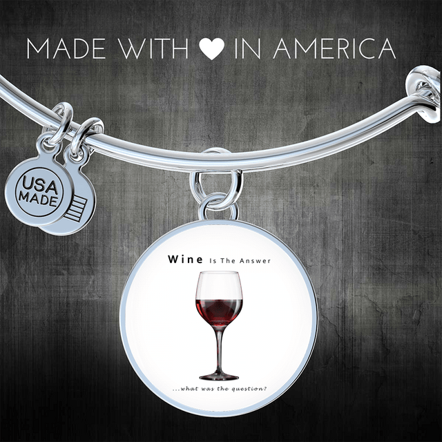 cool the answer is wine bracelet