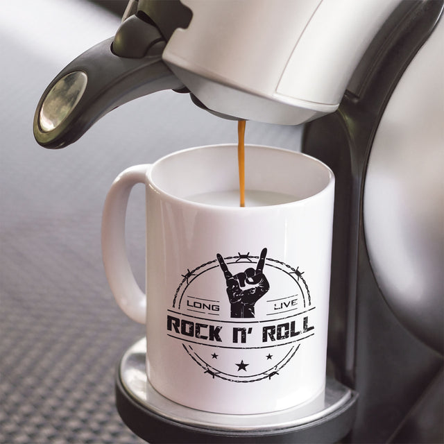 long live rock and roll white coffee mug