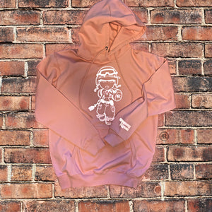 Concrete Rose Soldier Peach Hoodie Reflective