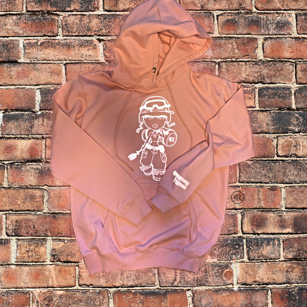 Concrete Rose Soldier🌹 Peach Hoodie (Reflective)