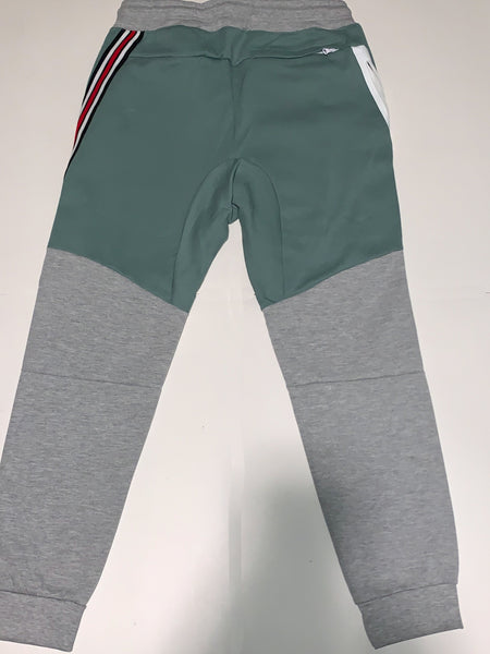 Men's Two-Tone Sweatsuit Green/Gray/White