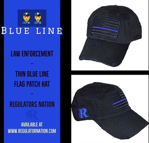 """BLUE LINE"" adjustable cap"