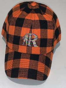 Flannel adjustable cap (Orange)