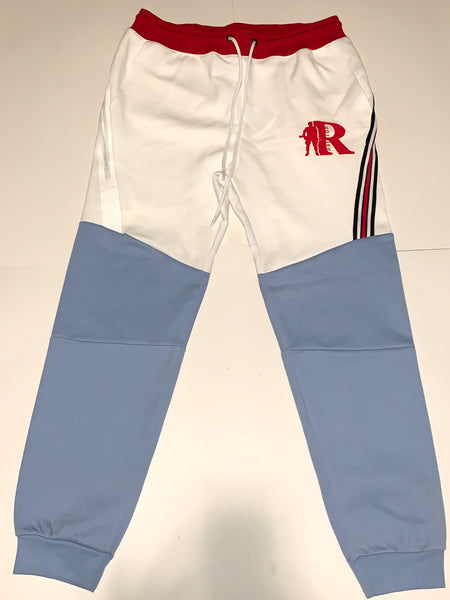 Men's Two-Tone Sweatsuit Blue/White/Red
