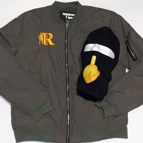 "Men's Regulators Nation ""Bomber"" Jacket (Olive)"