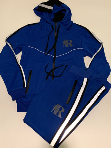 "Men's Regulators Nation ""Reflective Runners"" Tech Suit (Blue)"