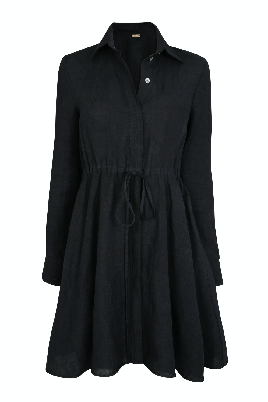 AMALFI SHORT DRESS BLACK