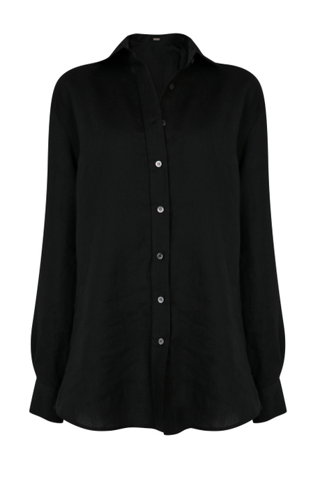 Boyfriend Shirt in Black