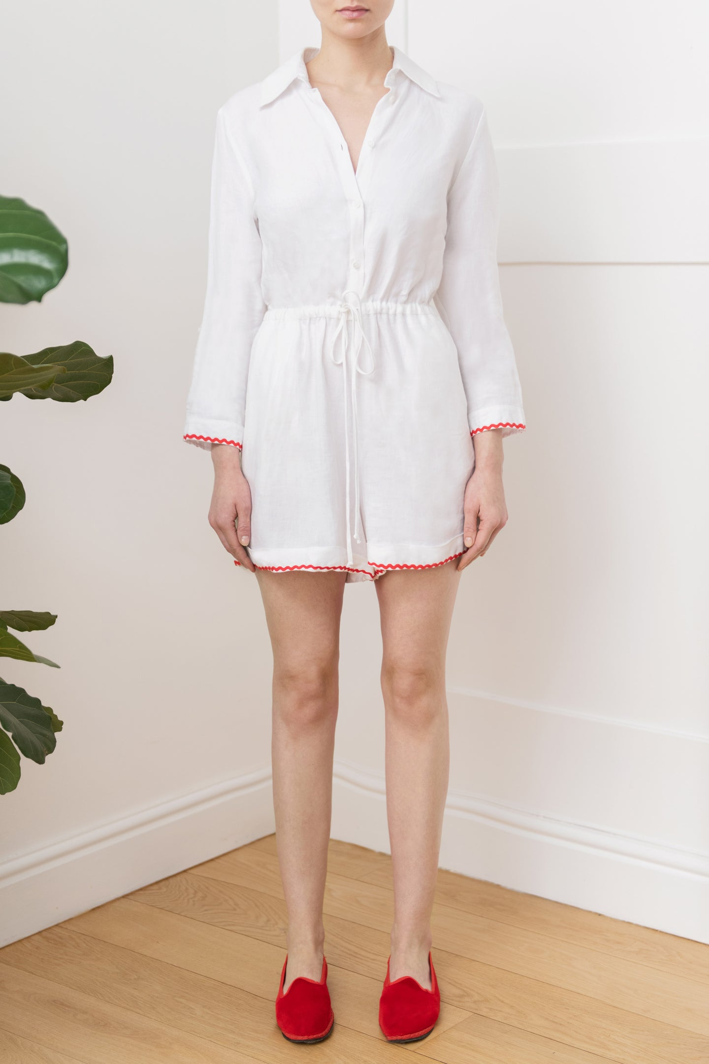 Portofino Playsuit in White