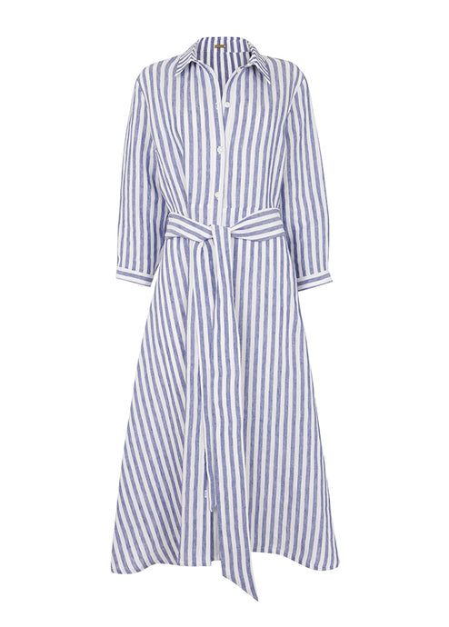 St Tropez Shirt Dress Striped