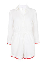 Load image into Gallery viewer, Portofino Playsuit in White