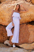 IBIZA SET LINEN TOP STRIPED