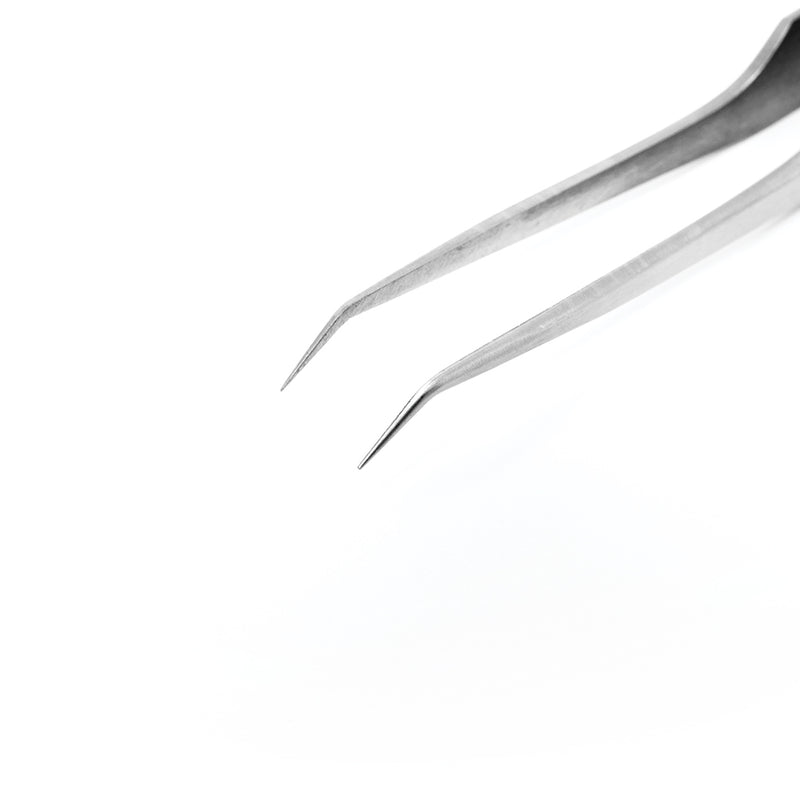 Silver Isolation Tweezers - Curved