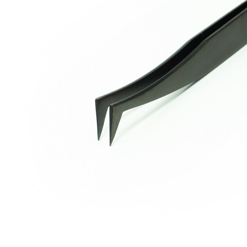Black Volume Tweezers - L shape