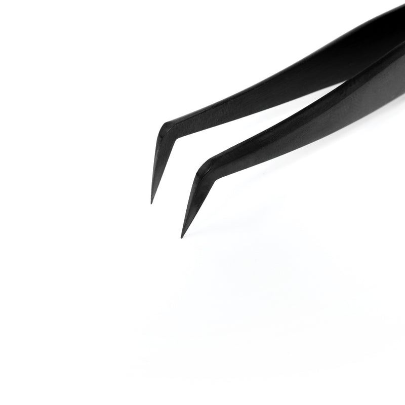 Black Volume Tweezers - Slim Boot