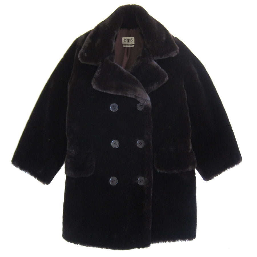 UNISEX FAUX FUR COAT - EARTH