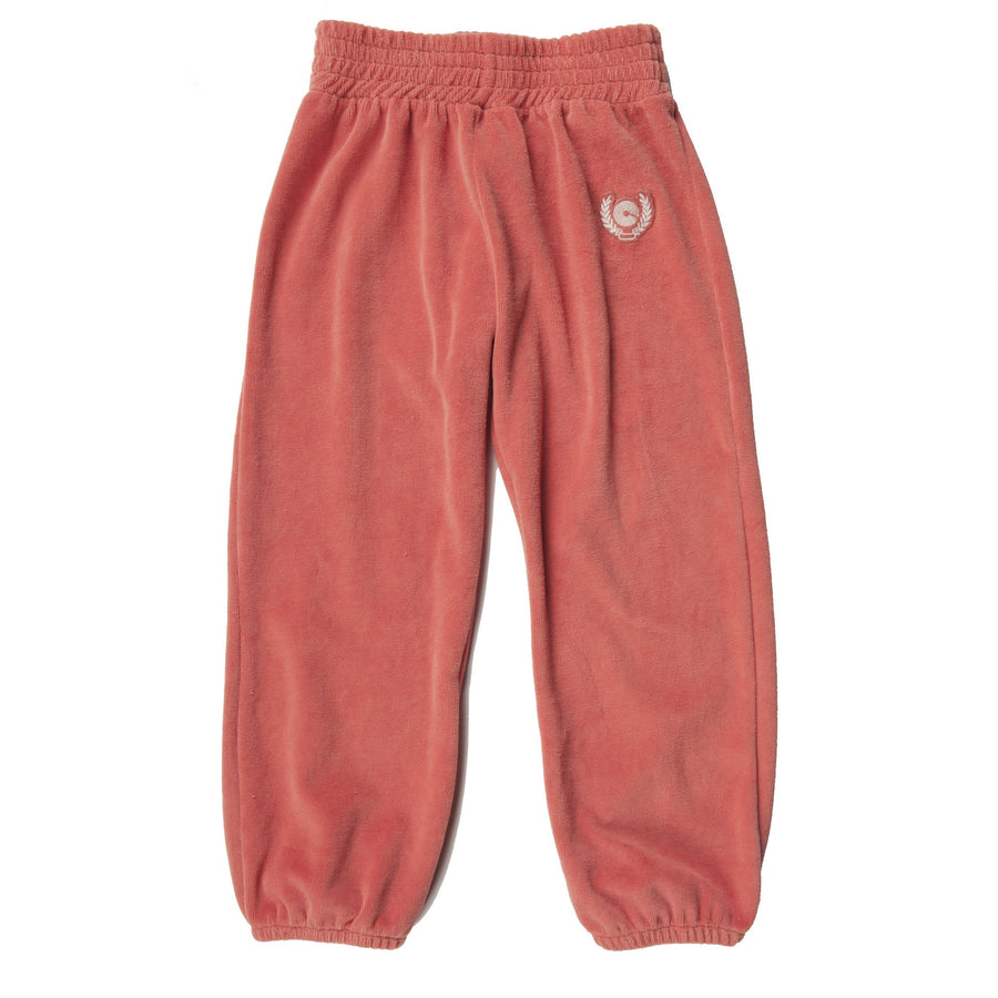 NEW CREST VELOUR SWEATPANT - SUNSET