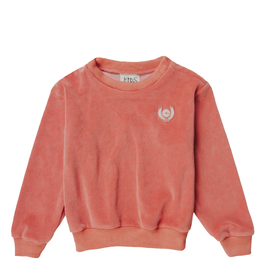 NEW CREST VELOUR CREWNECK - SUNSET