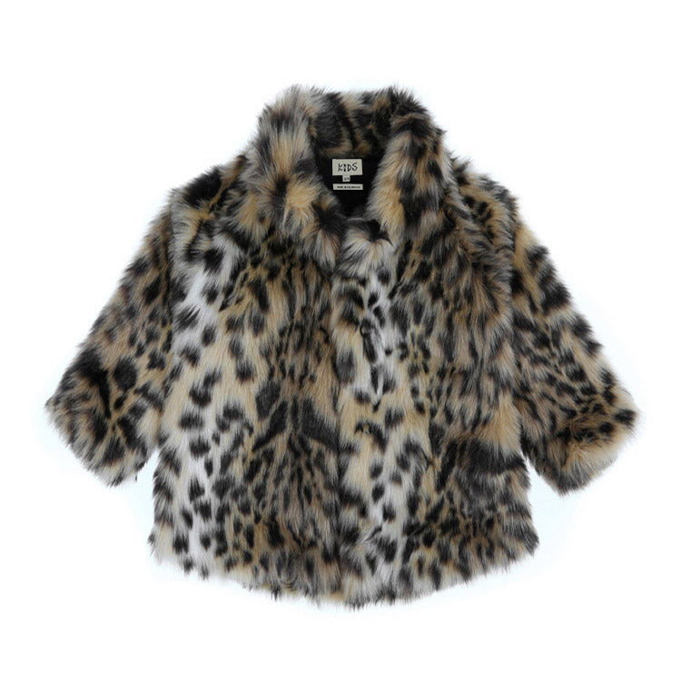 FAUX FUR COAT - SNOW LEOPARD