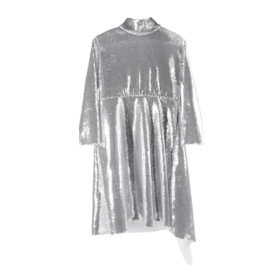 THE DEMNA DRESS - SILVER SEQUIN