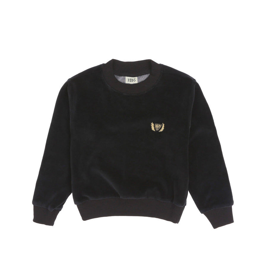 CREST VELOUR CREWNECK - INK